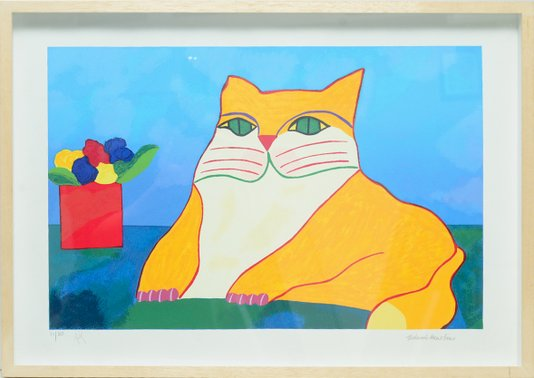 Aldemir Martins (Gato) - Gravura Assinada 52,5 CM x 72 CM