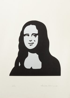 Fernando Ribeiro (Monalisa) - Gravura Assinada 70 CM x 50 CM