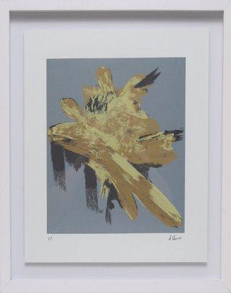 Gravura Assinada - Abstrato - A. Chaves 50 CM x 50 CM