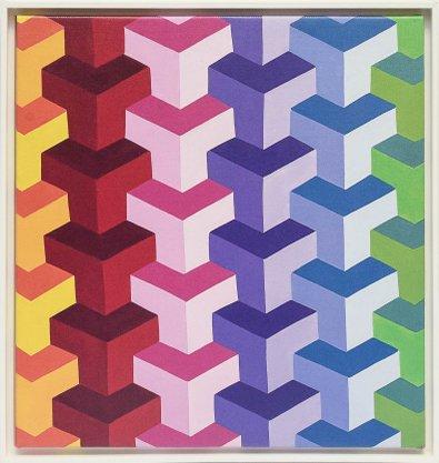 Impressão em Canvas - Geometria Colorida 92 CM x 89 CM