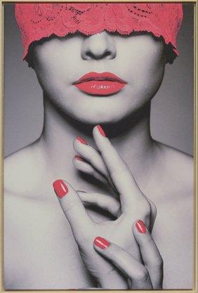 Impressão em Canvas - Mulher Detalhes em Vermelho 92,5 CM x 62,5 CM