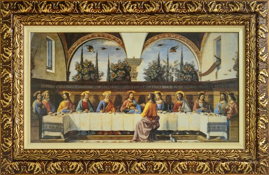 Quadro Decorativo Pronto Santa Seia Com Jesus 77 CM x 127 CM