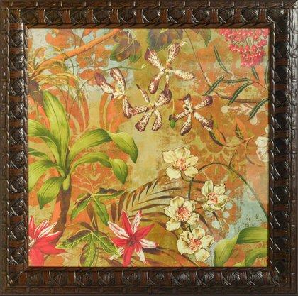 Quadro Decorativo Pronto Flores 71 CM x 71 CM
