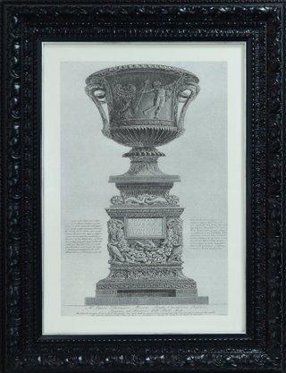 Quadro Pronto - Gravura Escultura Romana 89 CM x 69 CM