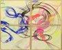 Impressão em Canvas - Conjunto Quatripticos - Abstrato Faixas Coloridas 105 CM x 105 CM
